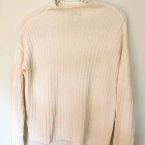 Old Navy Sweaters - Cream Mock Neck Ribbed Sweater